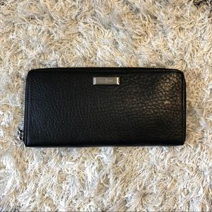 Cole Haan Black Leather Wallet Clutch